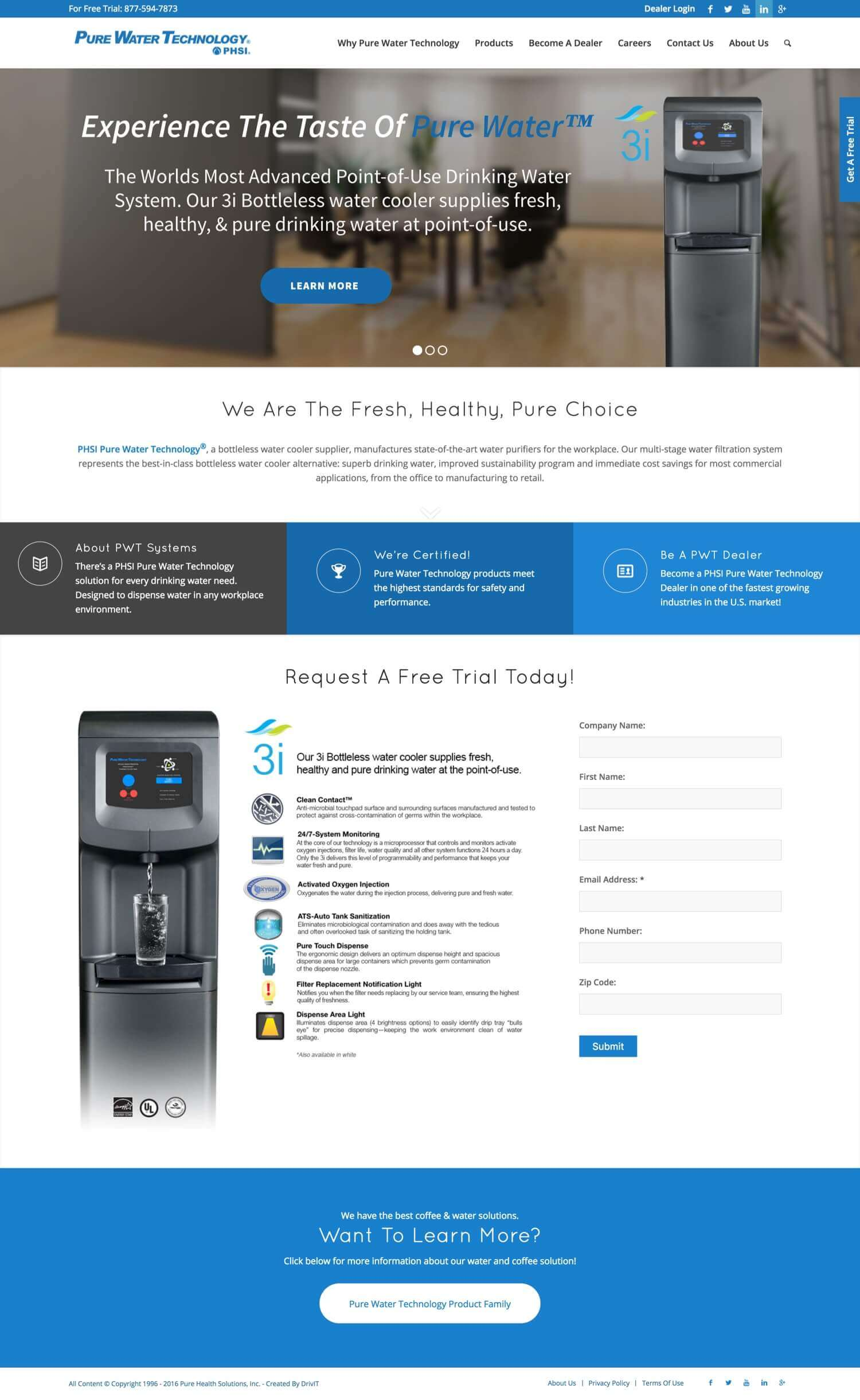 Pure Water Tech - Website