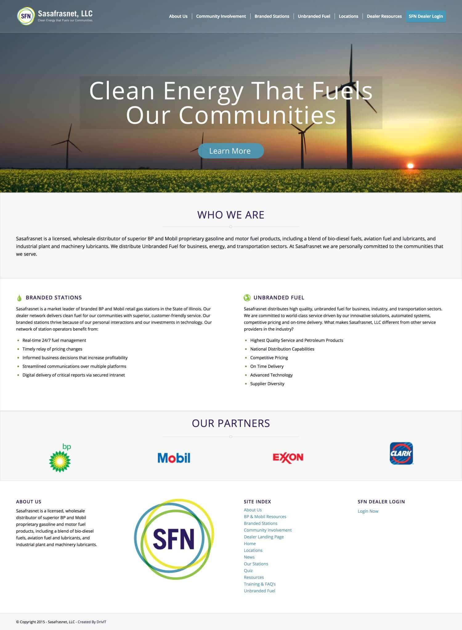Sasafrasnet - Website