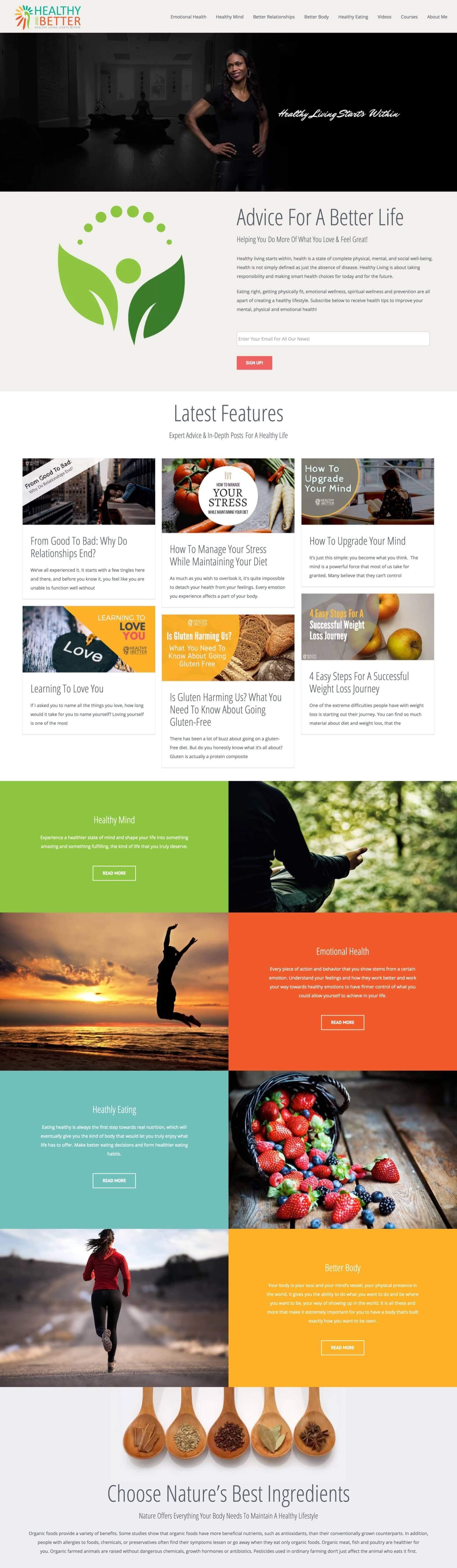 Healthy & Better - Website
