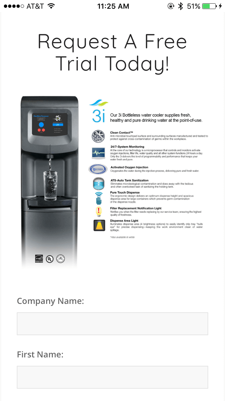 Pure Water Technology - Free Trial