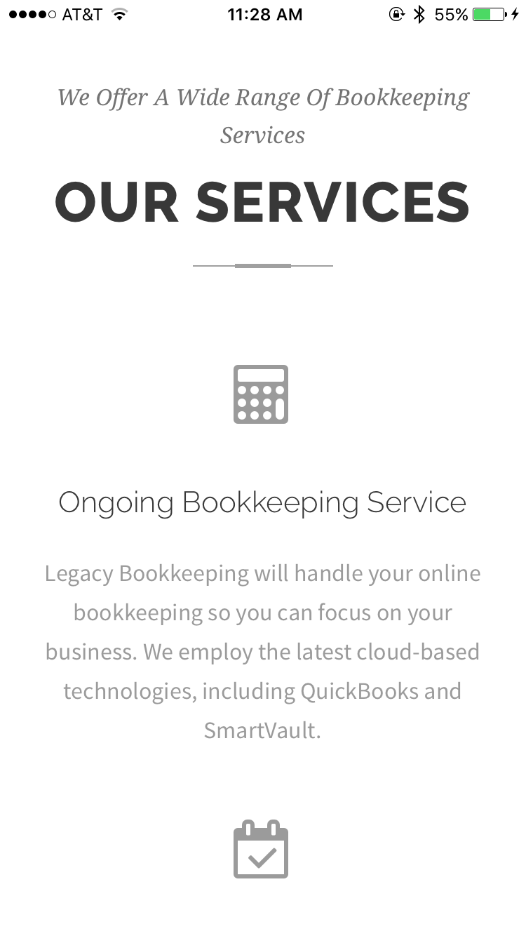 Legacy Bookkeeping - Services